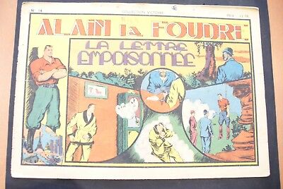 Bd-Alain La Foudre Format 27 X 18,5 Cm -1947 - N°14 -Be ! Collection Victoire