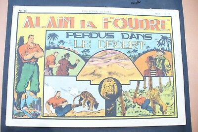 Bd-Alain La Foudre Format 27 X 18,5 Cm -1947 - N°18 -Tbe ! Collection Victoire