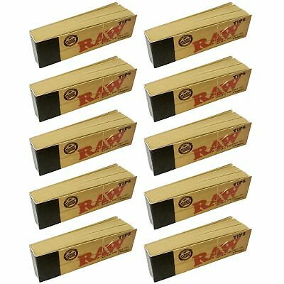 Raw Rolling Papers Unbleached Filter Tips 10 Pack = 500 Tips