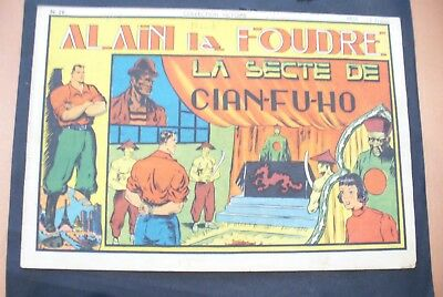 Bd-Alain La Foudre Format 27 X 18,5 Cm -1947 - N°20 -Tbe ! Collection Victoire