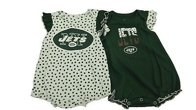 the latest ba2fc c68f2 NFL NEW YORK Jets Merchandise Baby Infant Girls 2 Piece Creeper Bodysuit NEW