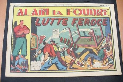 Bd-Alain La Foudre Format 27 X 18,5 Cm -1948 - N°64 -Tbe ! Collection Victoire