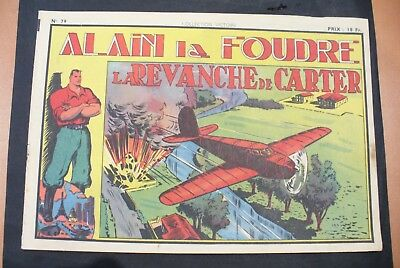 Bd-Alain La Foudre Format 27 X 18,5 Cm -1948 - N°79 -Tbe ! Collection Victoire