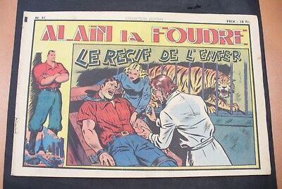 Bd-Alain La Foudre Format 27 X 18,5 Cm -1949 - N°81 -Tbe ! Collection Victoire