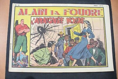 Bd-Alain La Foudre Format 27 X 18,5 Cm -1949 - N°85 -Tbe ! Collection Victoire