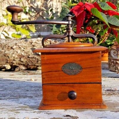 Beautiful Antique Peugeot Freres French Coffee Grinder Model T Size 3 Rare