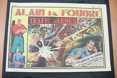 Bd-Alain La Foudre Format 27 X 18,5 Cm -1949 - N°94 -Tbe ! Collection Victoire