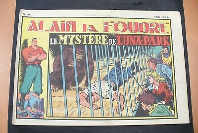 Bd-Alain La Foudre Format 27 X 18,5 Cm -1949 - N°96 -Tbe ! Collection Victoire