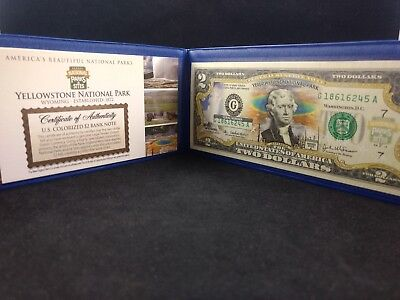 Commemorative Bank Note $2 bill Yellowstone National Park No Reserve #152