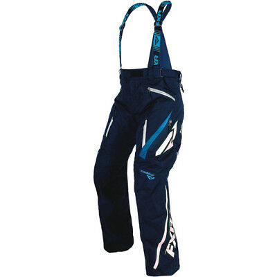 FXR Mens Navy/Blue/White Mission X Insulated Snowmobile Pants Snocross