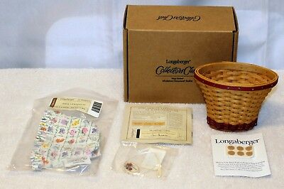 Longaberger Collector Club Miniature May Series Geranium Basket Combo New in Box