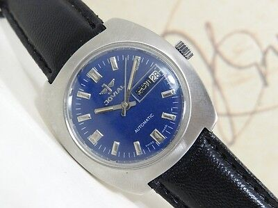 Vintage Jovial Automatic Day And Date Men Wrist Watch Swiss Made Cal 2789.