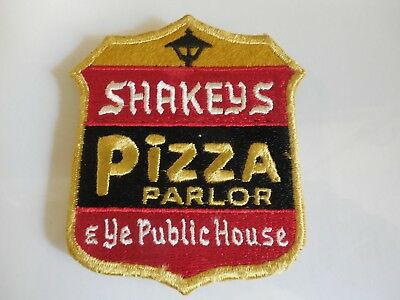 Shakey's Pizza Embroidered Jacket Patch Original,Vintage