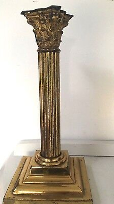 antique victorian brass corinthium column