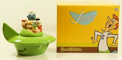 New In Box The Jetsons Ceramic Spaceship Cookie Jar Westland #12552