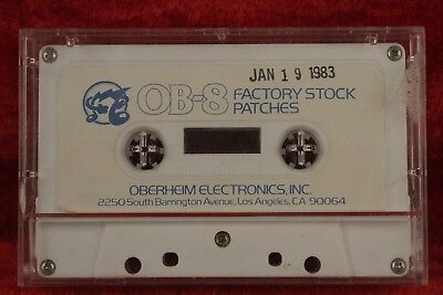 original 1983 Oberheim OB-8 Synthesizer Factory Stock Patches Cassette Tape