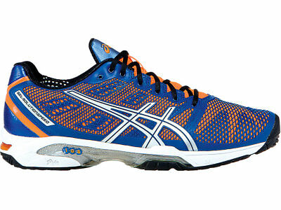 Mens asics Gel Solution Speed 2 Blue Tennis Court Shoes Trainers Size UK 9.5
