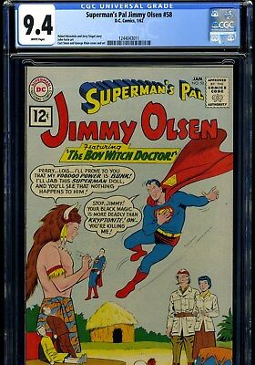 Superman's Pal Jimmy Olsen #58 1/62 Cgc 9.4 White Pages---Highest Graded!