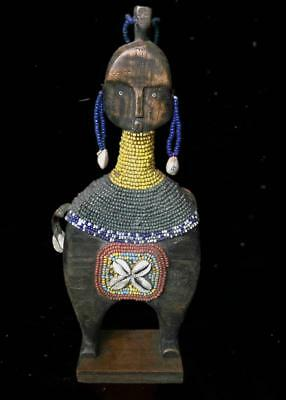 Outstanding   Tribal  Namji Musical Figure With a shaking seeds   ---- Cameroon