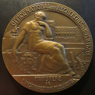 Large bronze medal Art deco by BLIN Office of Research & Inventions -- 57mm