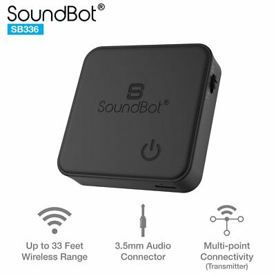 SoundBot SB336 TX / RX Bluetooth Transmitter / Receiver 2-in-1 Wireless Adapter