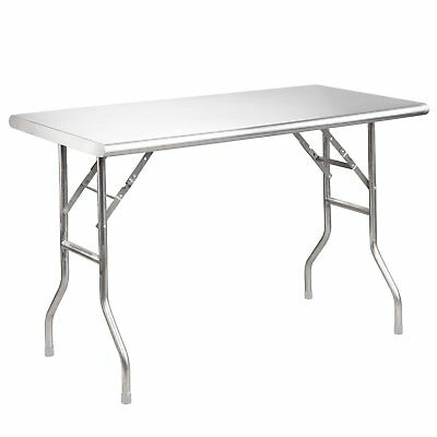 """Royal Gourmet Stainless Steel Folding Work Table, 48"""" L x 24"""" W"""