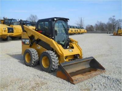 100 Hours! 2016 Caterpillar 262D Skid Steer Loader Cab Heat Air Cat 262C 262C2