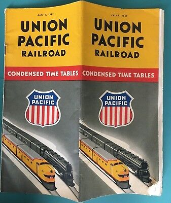 Union Pacific Railroad Time Table.  July 6, 1947.