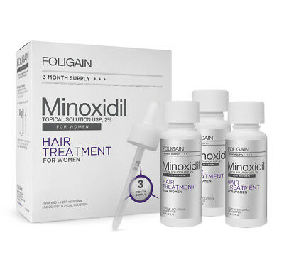 Foligain Tropical Solution 2% Minoxidil 3 - 6 or 12 Month Supply For Women