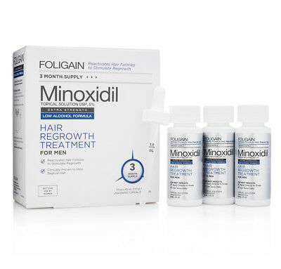 Foligain Minoxidil 5% Low Alcohol Hair Growth Treatment  3 - 6 -12 Month Supply