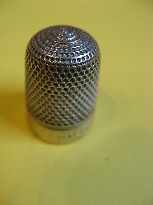 Vintage Silver Thimble Vgc Collectable
