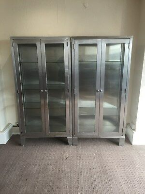 11 Of 12 Vintage Surgical Stainless Steel Medical Cabinets U S Air Base Desplay