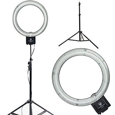 "Diva Ring Light Super Nova 18"" Dimmable Photo/Video Light w 6' Light Stand SAVE$"