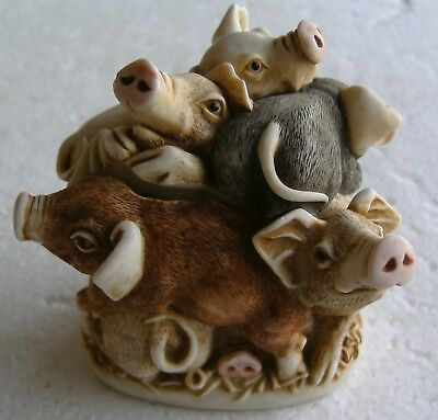 Truffle Scuffle TJPI3 2003 Harmony Kingdom Treasure Jests pigs TJPI3