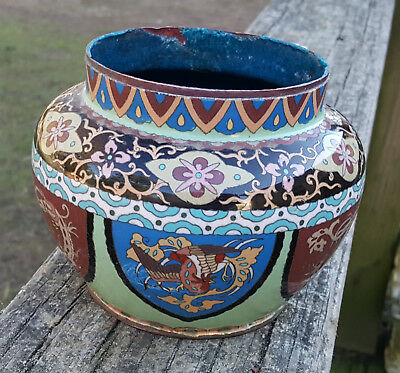 Antique Chinese Cloisonne Bowl AS IS