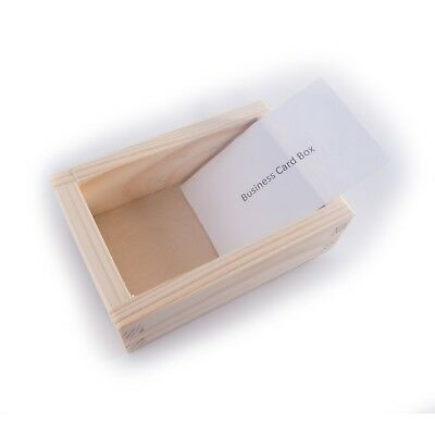 Small wooden business card box craft storage holder desk stand small wooden business card box craft storage holder desk stand container colourmoves