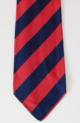 Vintage striped Tootal ties red and navy blue UNUSED vintage 1950s Green Quality