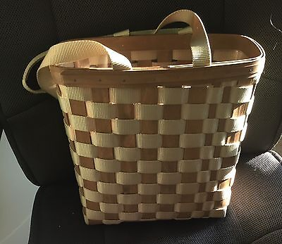 Longaberger 2007 To-Go Tall Tote Set with Protector Rare Combo EC