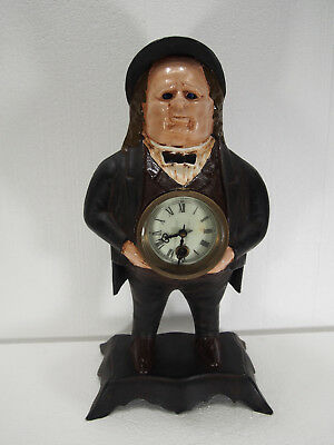 "Bradley and Hubbard ""John Bull"" moving eye cast iron mantel clock"