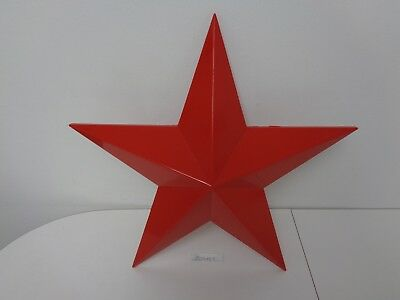 "Texaco Oil Compay Original Red Plastic Star 16"" Hung On Each Side Of Texaco Sign"