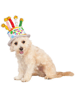 Pet Dog Cat Happy Birthday Party Cake Hat With Candles