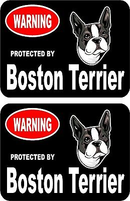 2 protected by Bouvier des Ardennes dog car home window vinyl decals stickers #A