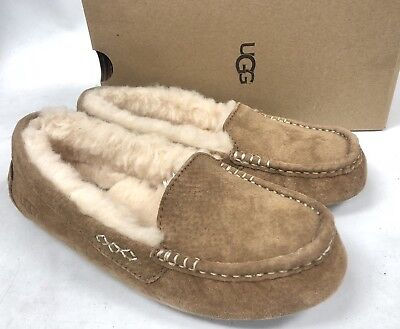 42c35490db3 UGG Australia Ansley Chestnut Suede Moccasin Slippers Slip On Shoes Women  3312