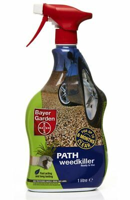 1 Litre Ready to Use Spray Bottle of Bayer Garden Branded Path & Drive