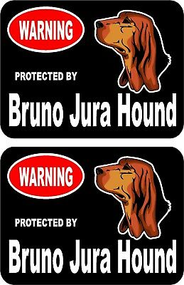 2 protected by Brussels Griffon dog car home window vinyl decals stickers #A
