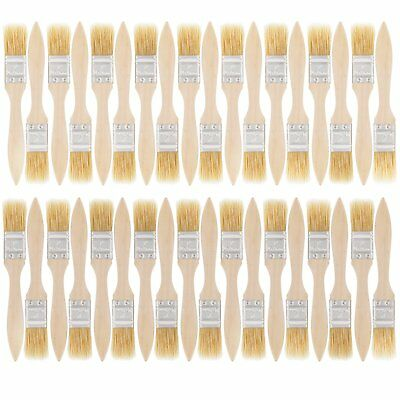 US Art Supply 36 Pack of 1 inch Paint and Chip Paint Brushes for Paint, Stains,