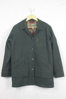 Vintage LL Bean Barn Coat Size Womens Small Flannel Lined Jacket