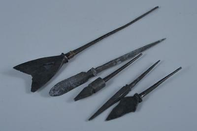 K1242: Japan Metal Yajiri ARROWHEAD, arrow with a wide barbed head replica 5pcs