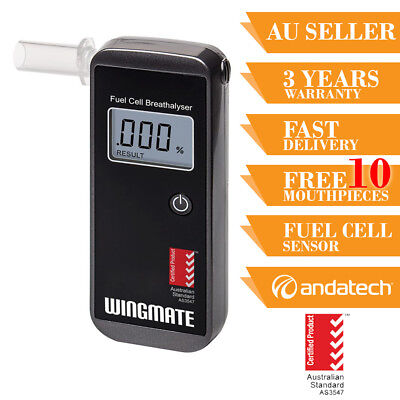 Breathalyser Breath Test Alcohol Tester Wingmate Pro Fuel Cell Sensor