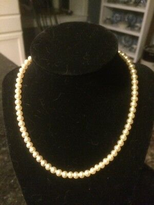 "Stunning Vintage Estate Signed Pearl Beaded 15"" Necklace!!!"